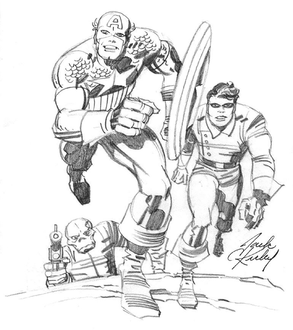 JACK KIRBY 1970�S CAPTAIN AMERICA ART Comic Art