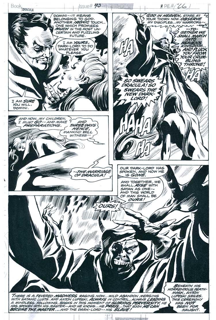 GENE COLAN 1976 TOMB OF DRACULA #45 P.26 Comic Art