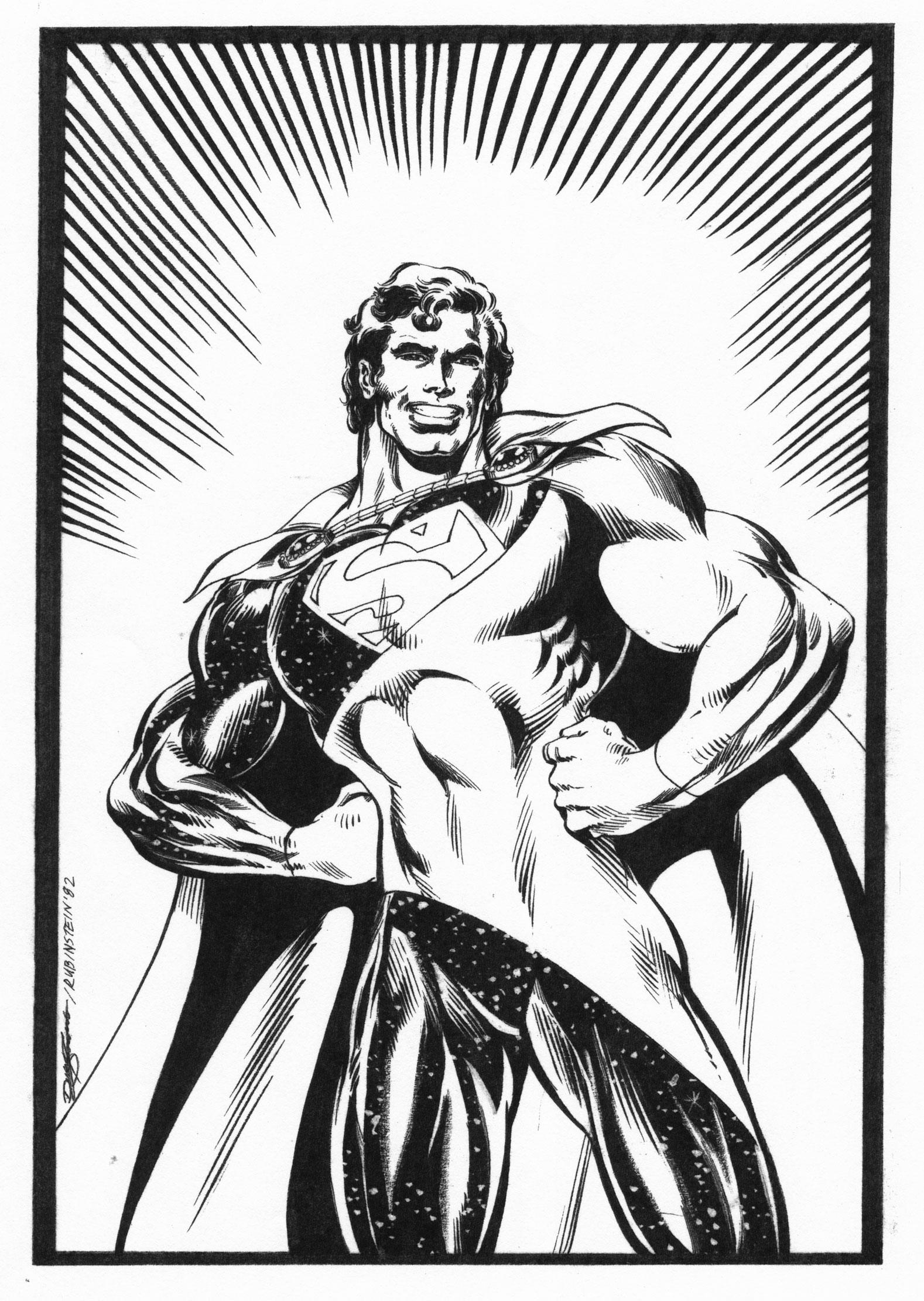 DAN JURGENS 1982 FORMATIVE SUPERMAN ART Comic Art
