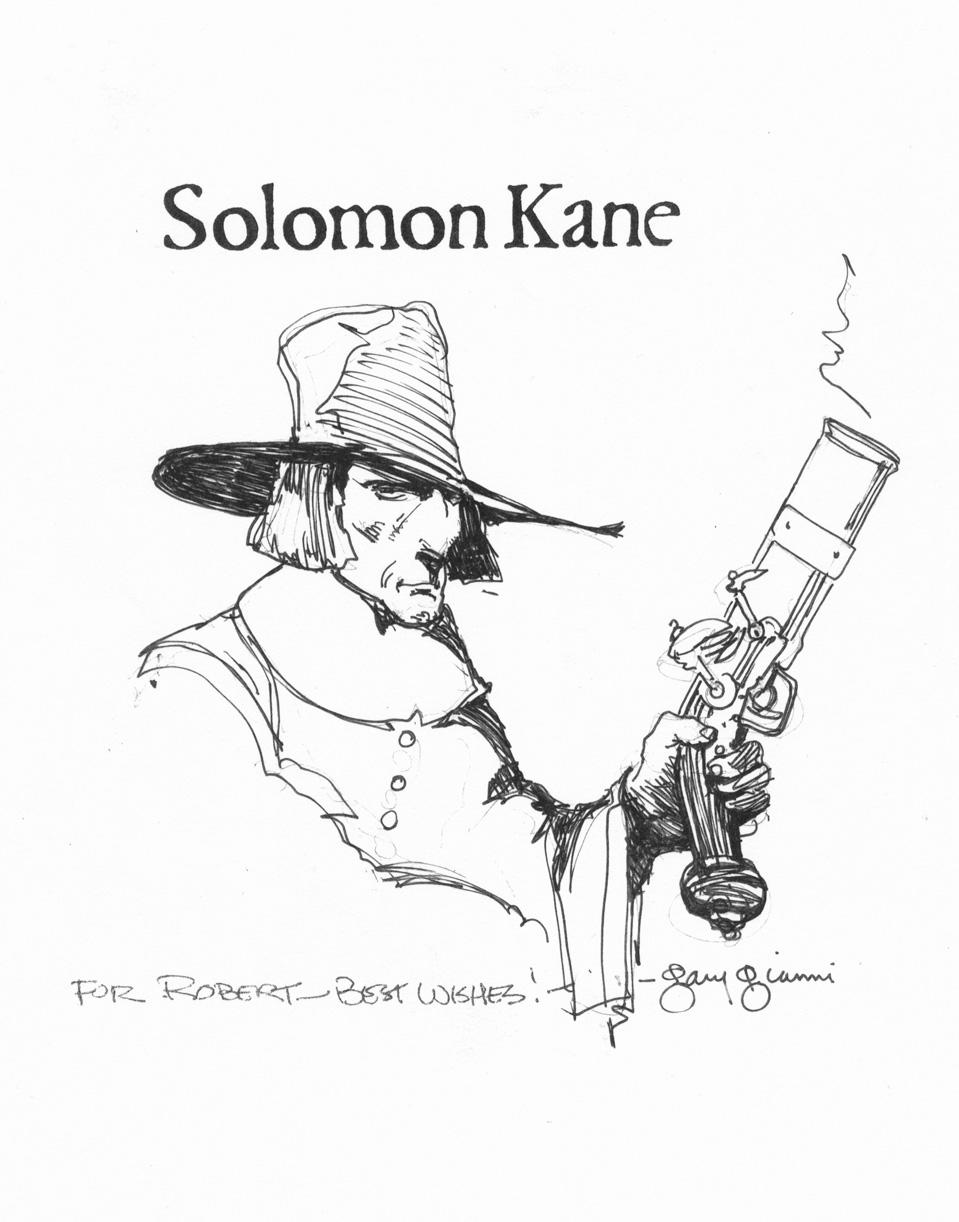 GARY GIANNI 1998 SOLOMON KANE ARTWORK Comic Art