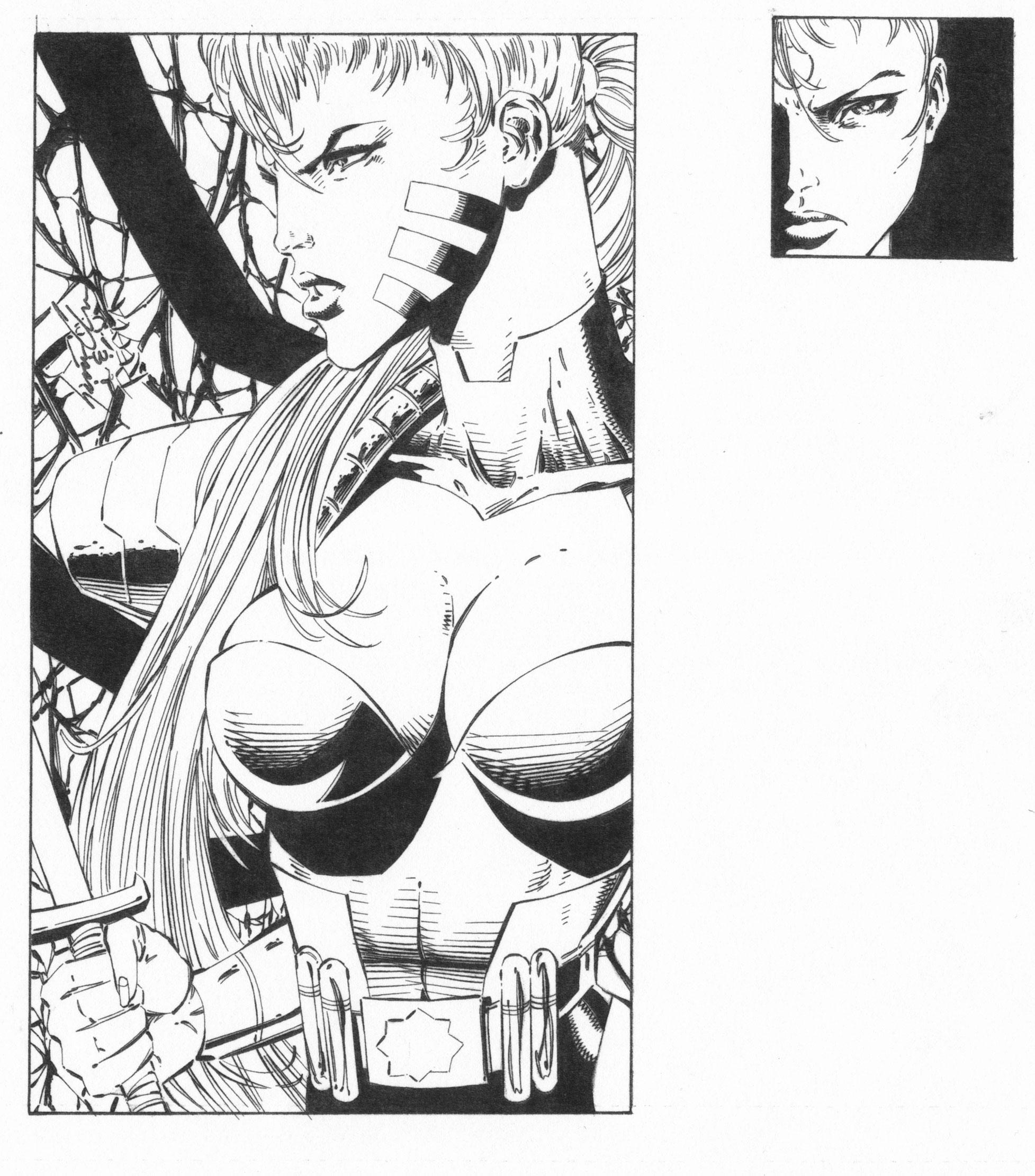 SCOTT CLARK 1994 ZEALOT TRADING CARD ART Comic Art