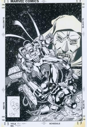 Cover art by Bob Layton to Iron man