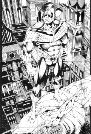 Original comic art batman and robin for sale