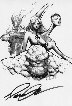 Artwork of Fantastic Four, Marvel Comics