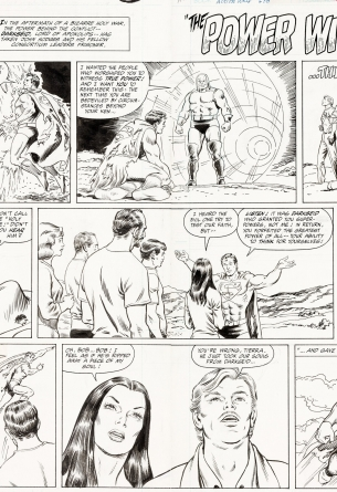 Superman Sunday artwork by Curt Swan