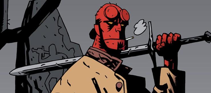 color art of Hellboy