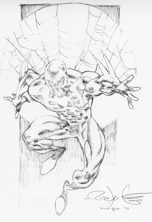 Pencil drawing Marvel Spider-Man by Leonardi