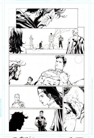 Original comic art page Tony Daniels