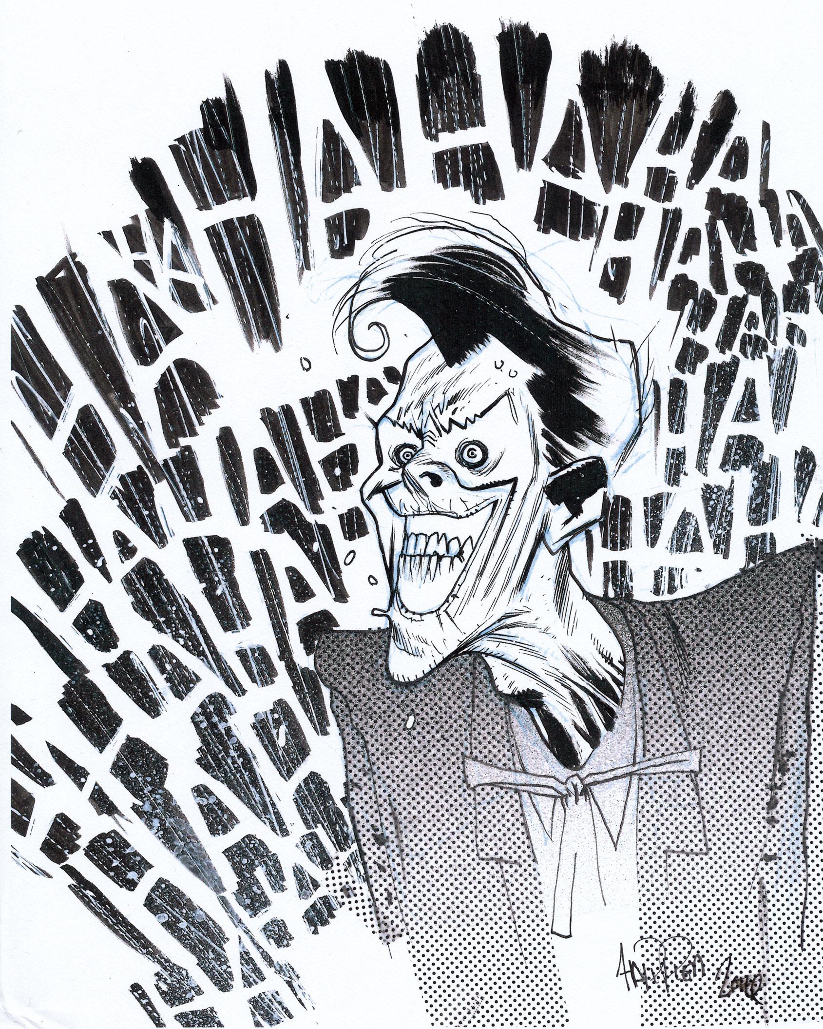 Batman Joker DC Comic Book art